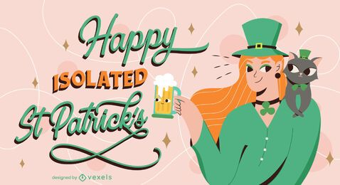 Happy isolated st patricks illustration