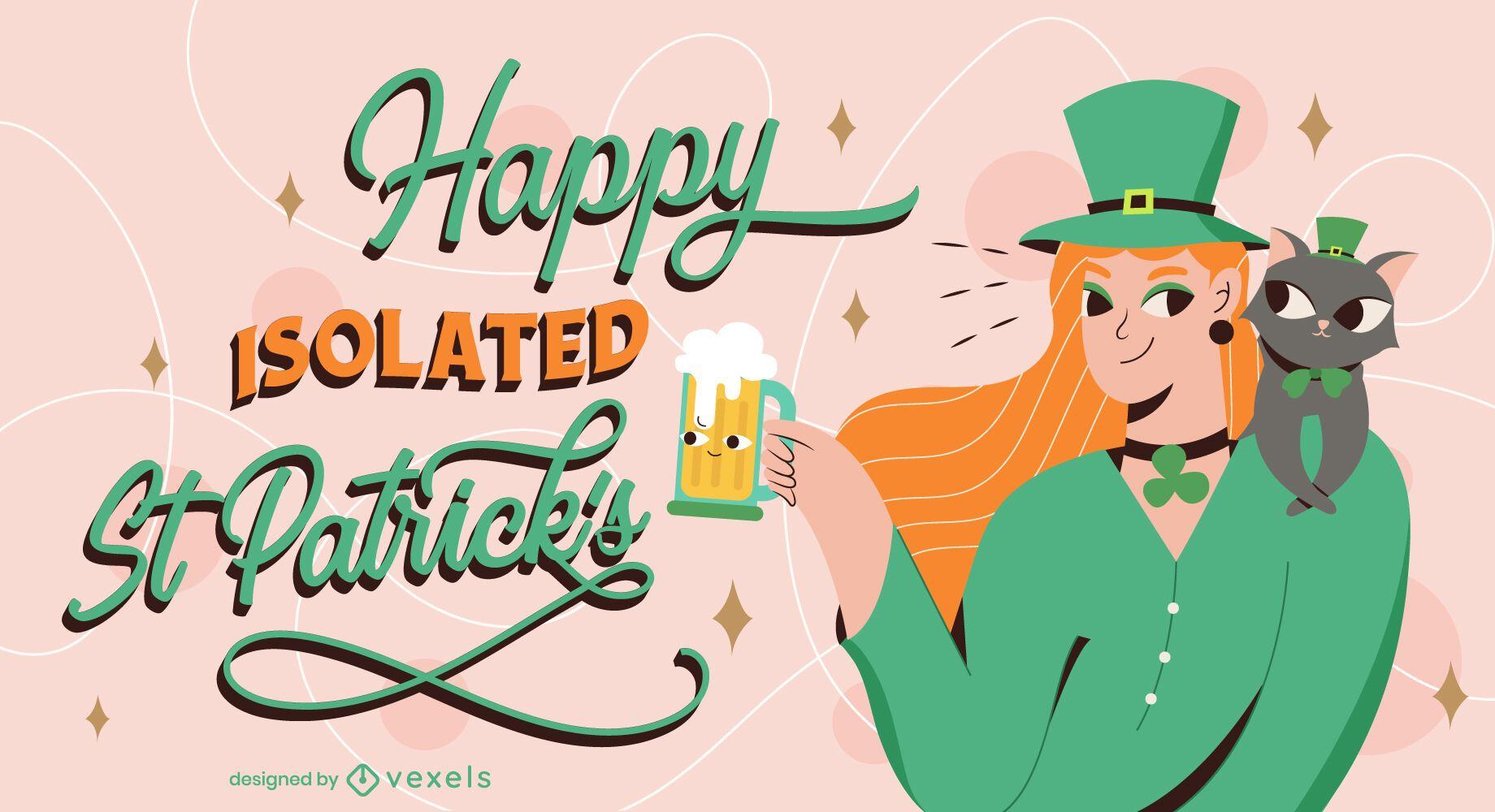 Happy isolated st patricks illustration