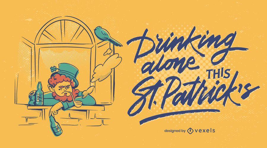 Alone this st patricks illustration design