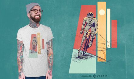 Male cyclist t-shirt design