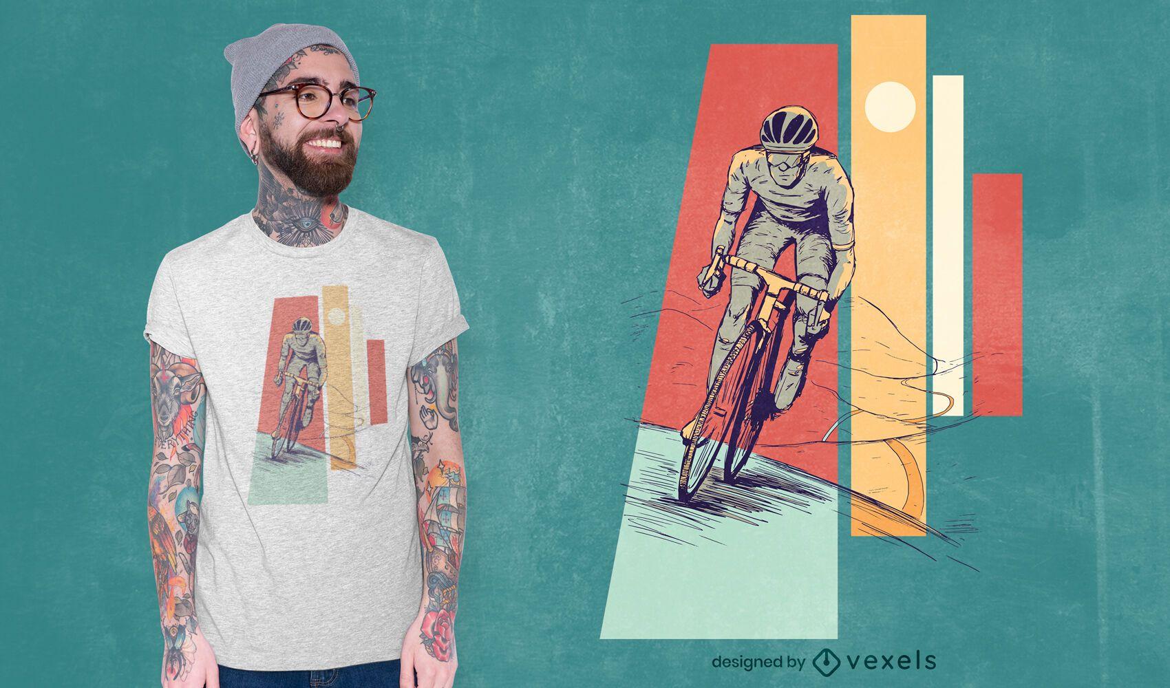 Diseño de camiseta ciclista masculino.