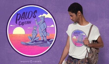 Diseño de camiseta de capitán de patas