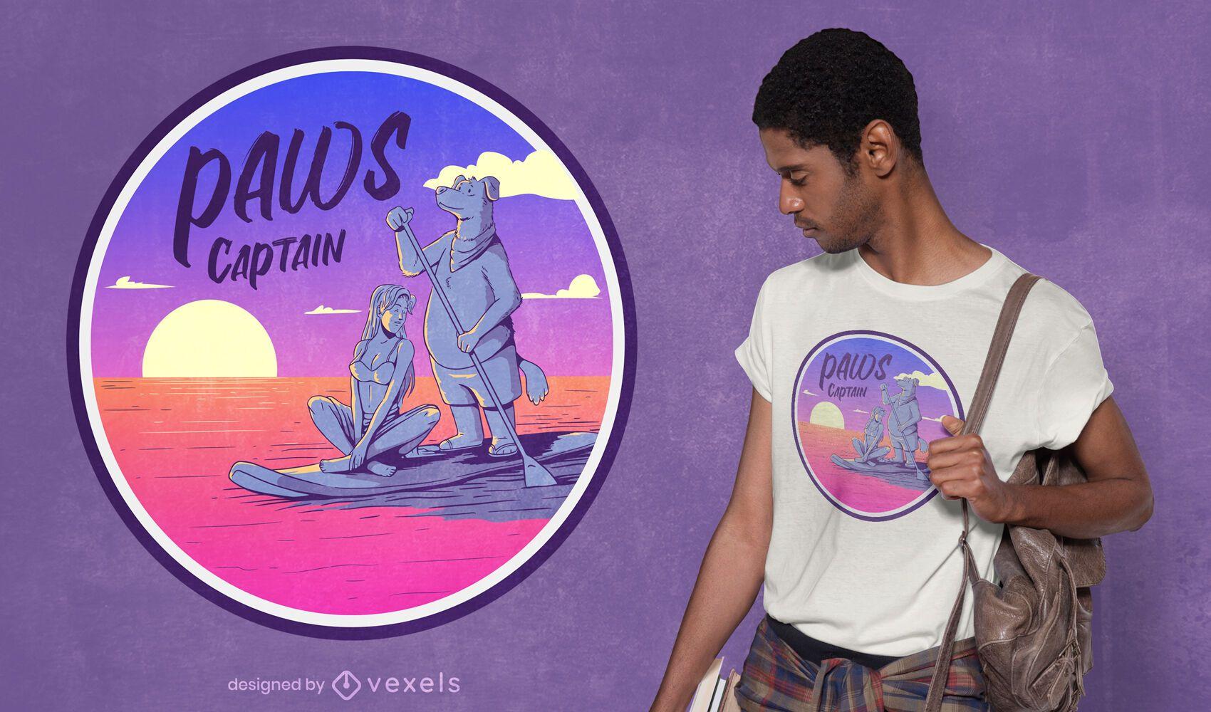 Paws captain t-shirt design