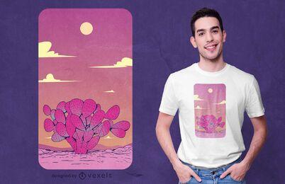 Diseño de camiseta de cactus pera