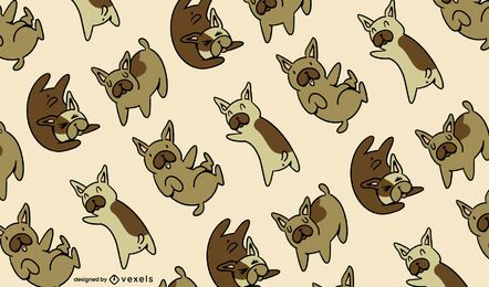 French bulldog pattern design