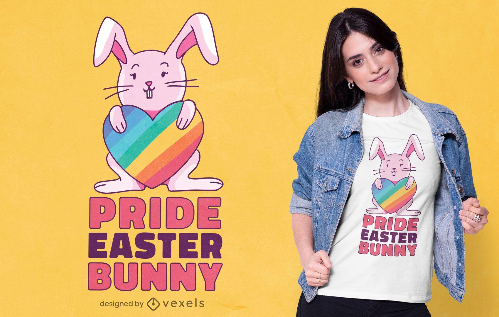 Diseño de camiseta Pride Easter Bunny