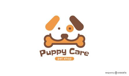 Puppy care logo template