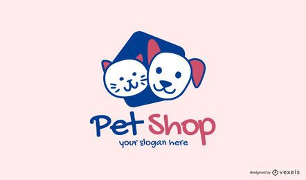 Modelo de logotipo de pet shop