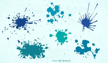 Super colourful splatter free vector