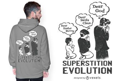 Diseño de camiseta superstition evolution.