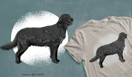 Black retriever dog t-shirt design