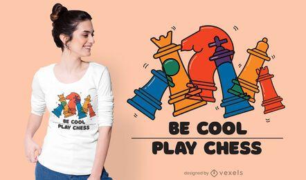 Be cool play diseño de camiseta de ajedrez