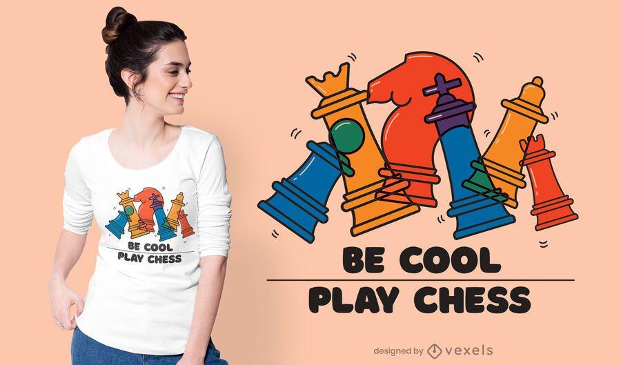 Be cool play chess t-shirt design