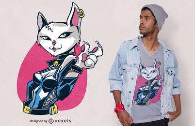 Diseño de camiseta de garra de gato