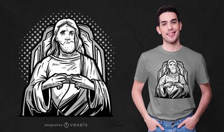 Diseño de camiseta gamer jesus