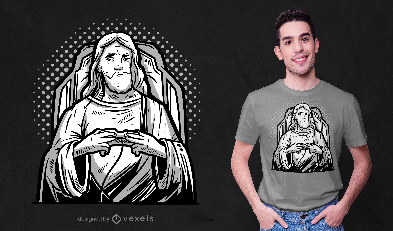Design de camisetas jesus do jogador