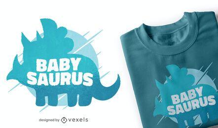 Diseño de camiseta baby saurus
