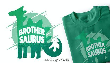 Brother saurus t-shirt design