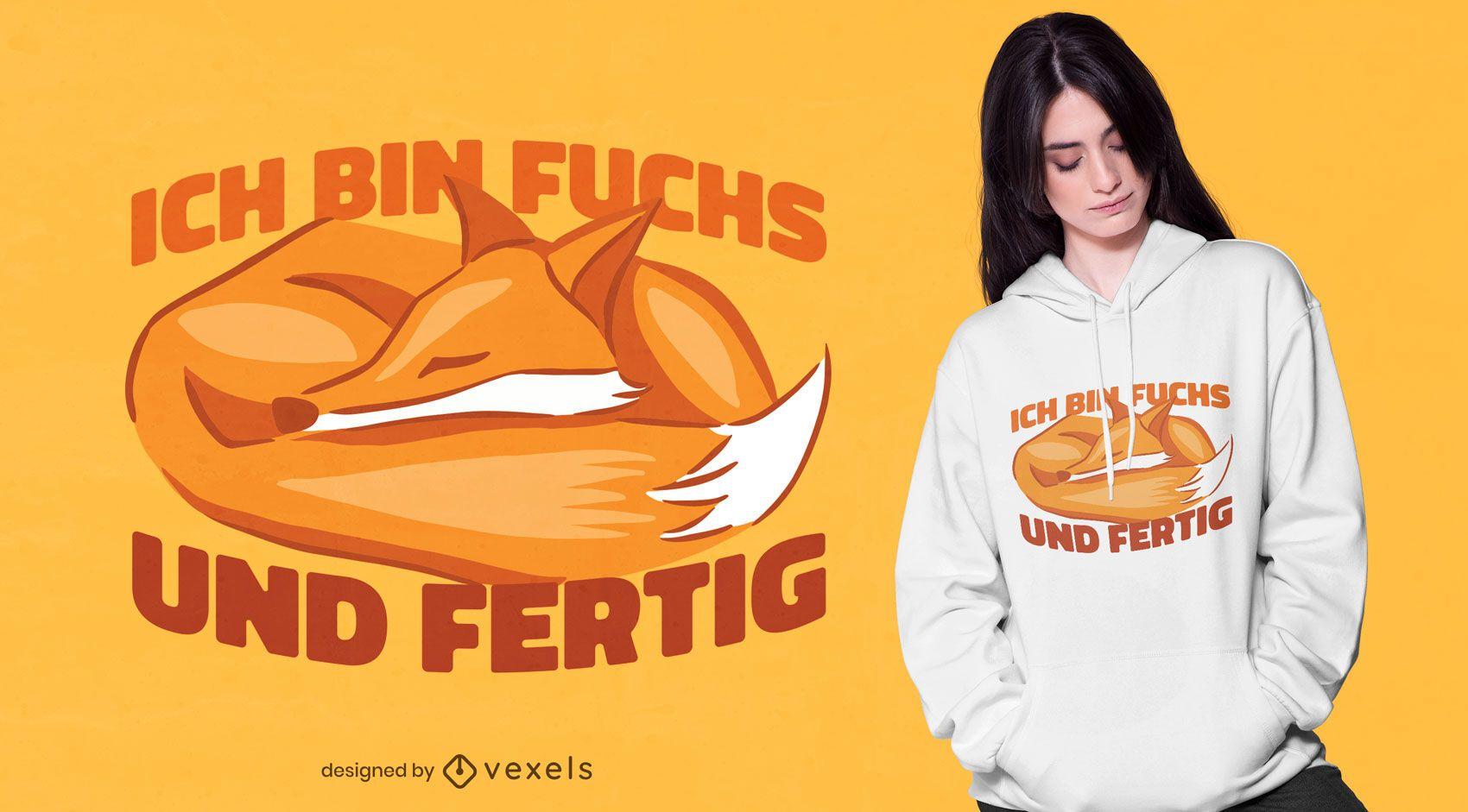 Sleeping fox t-shirt design