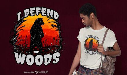 Defiende el diseño de la camiseta del bosque