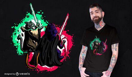Cats light swords t-shirt design