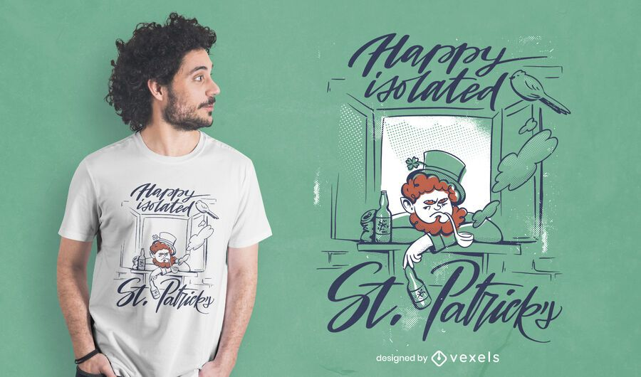 Happy isolated st patricks t-shirt design