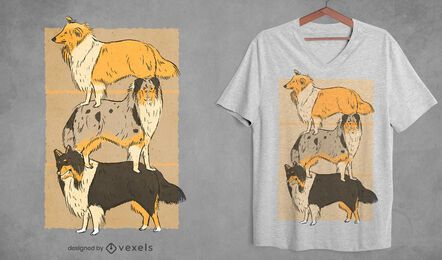 Collie dogs t-shirt design