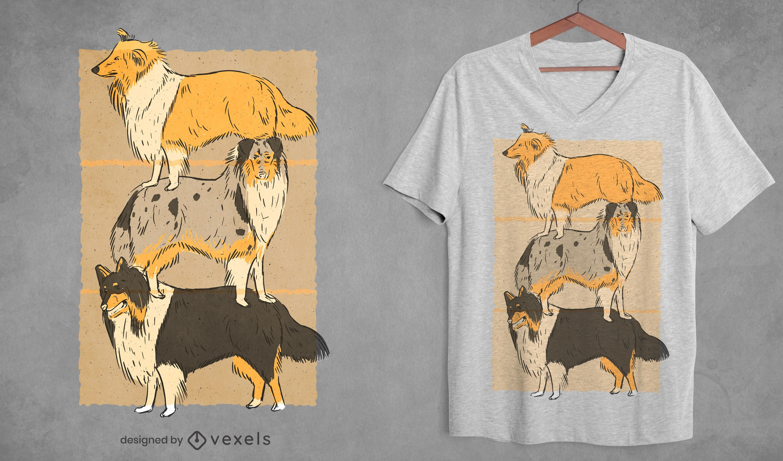 Collie dogs t-shirt design