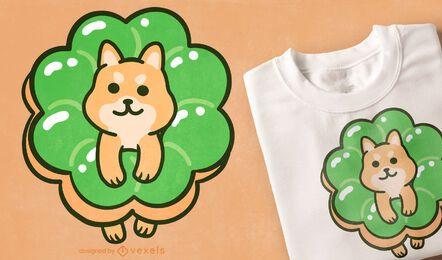 Diseño de camiseta Corgi Donut