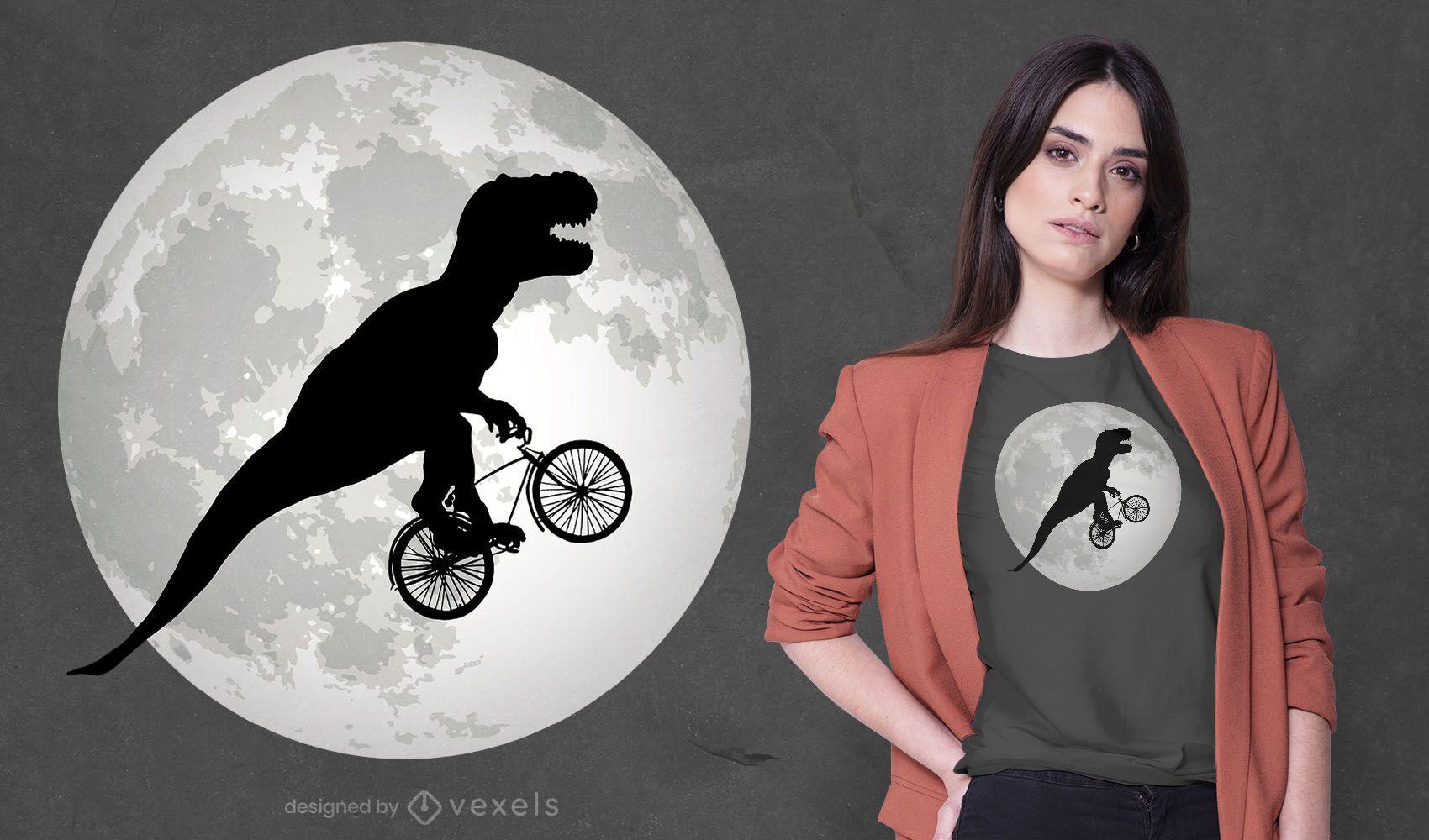 Design de camiseta t-rex voadora