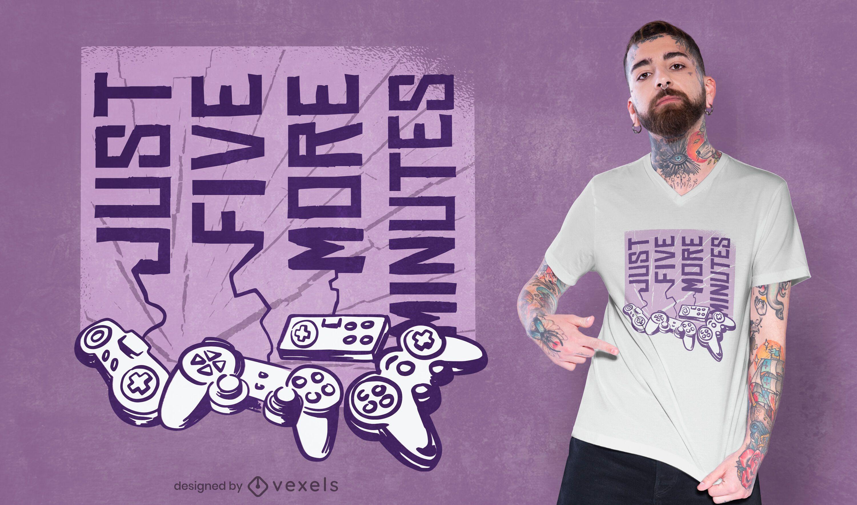 Solo cinco minutos más de diseño de camiseta.