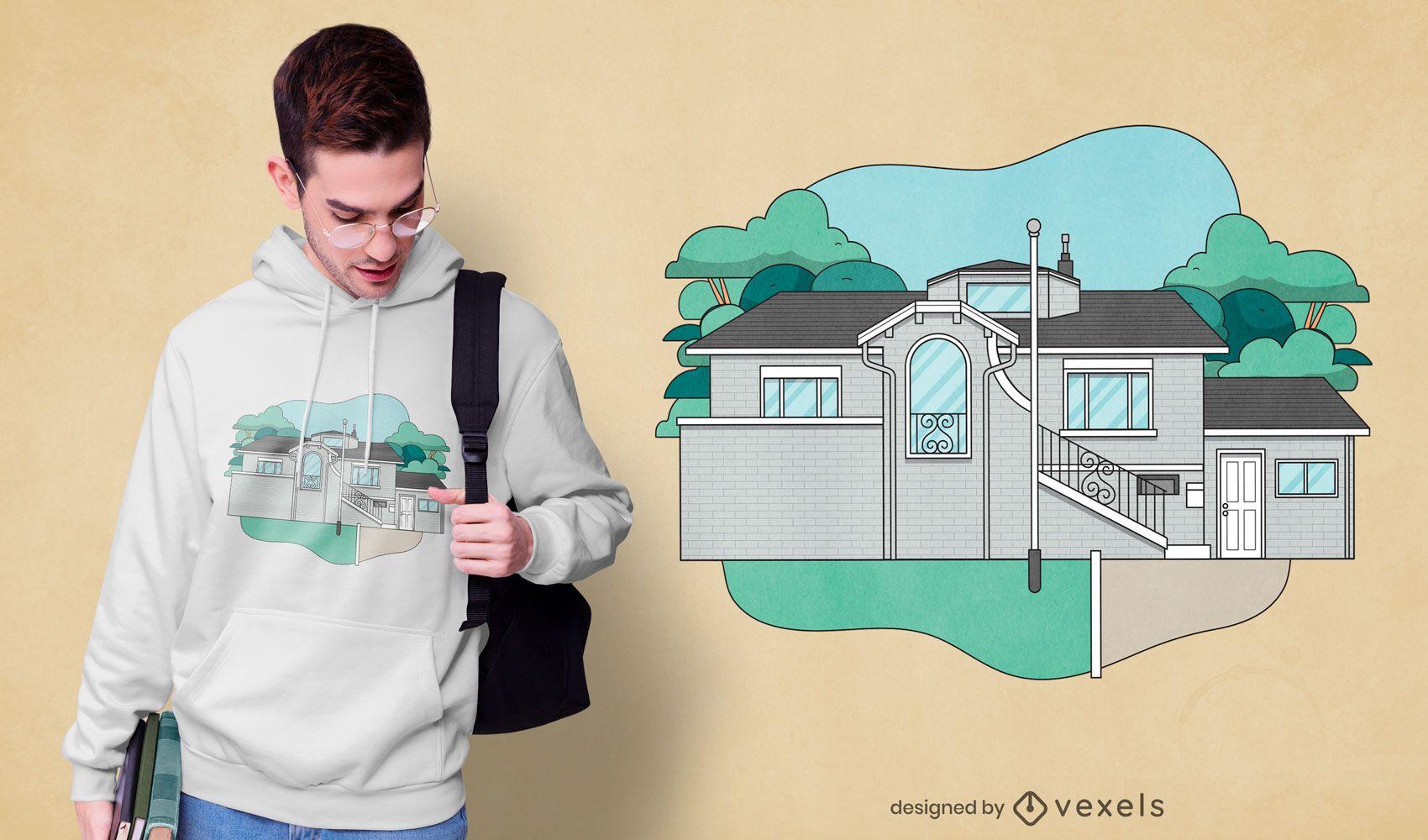 Frat house t-shirt design