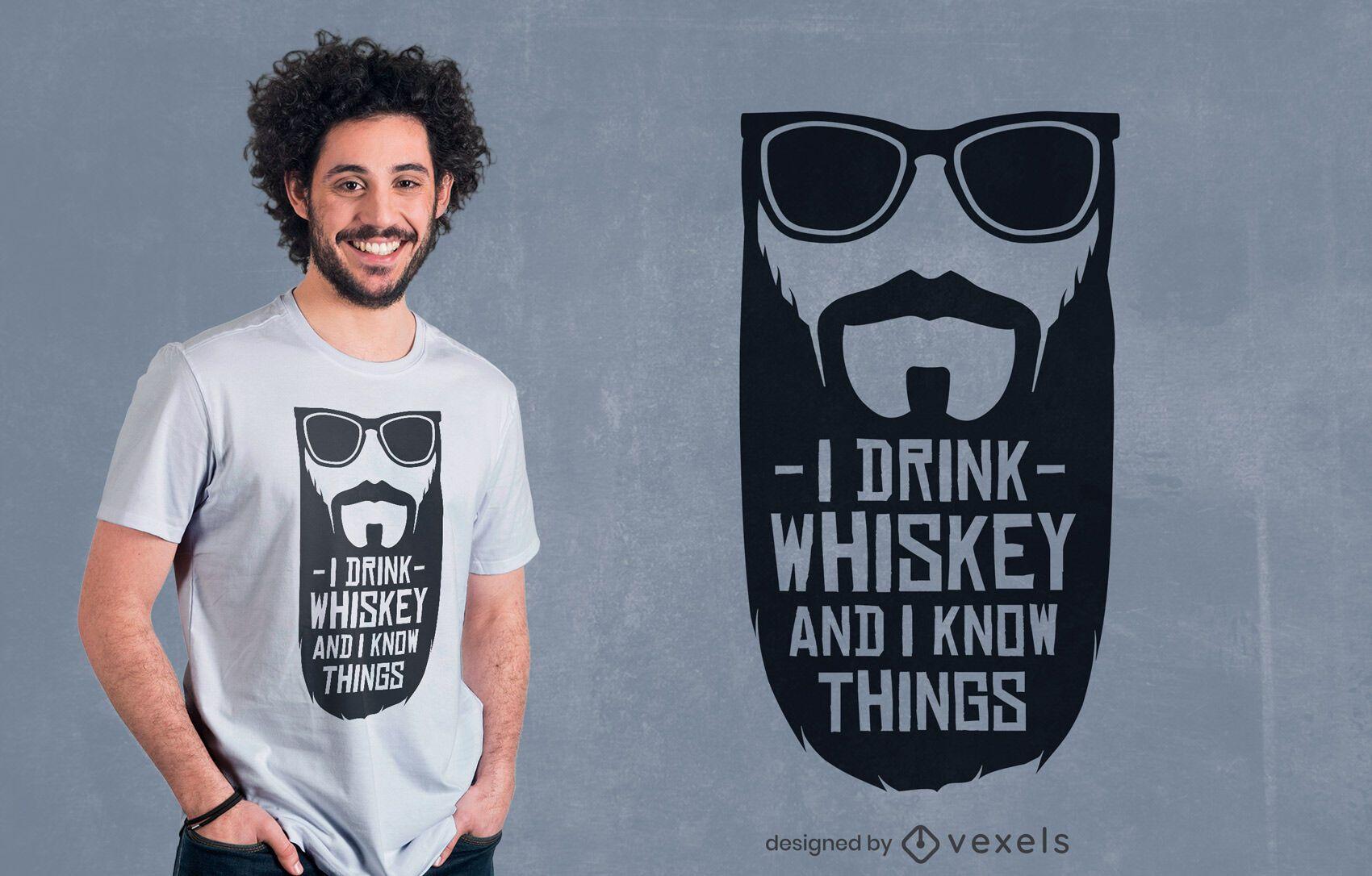 Bebo whisky diseño de camiseta