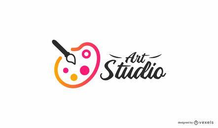 Modelo de logotipo de estúdio de arte