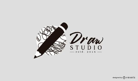 Draw studio logo template
