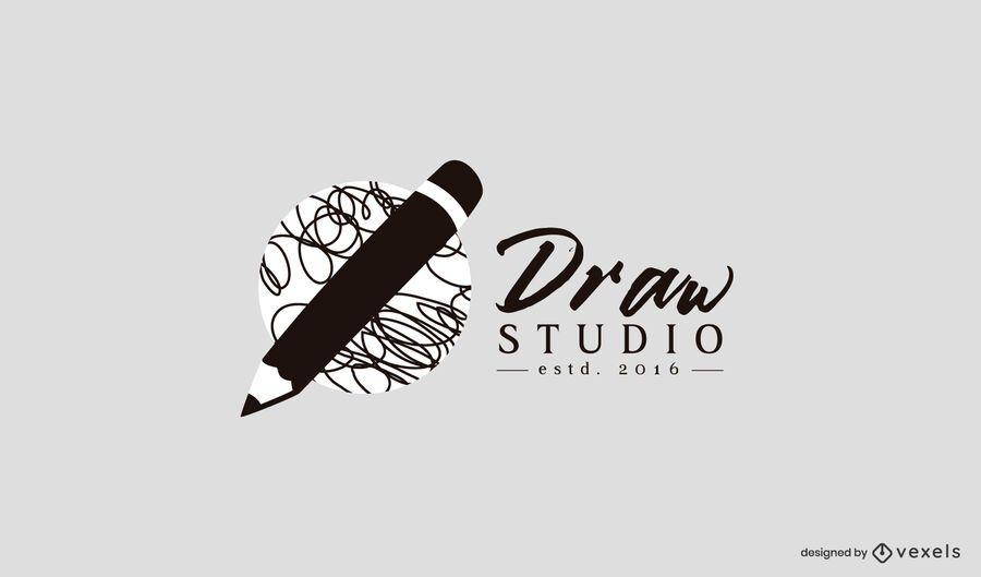 Dibujar plantilla de logotipo de estudio
