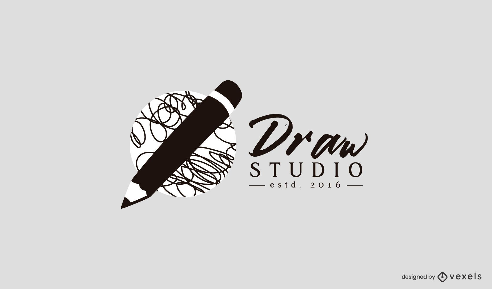 Draw studio logo template