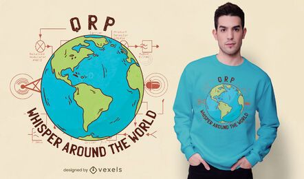 Diseño de camiseta de radio QRP