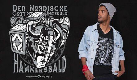 Diseño de camiseta de impaciencia nórdica.