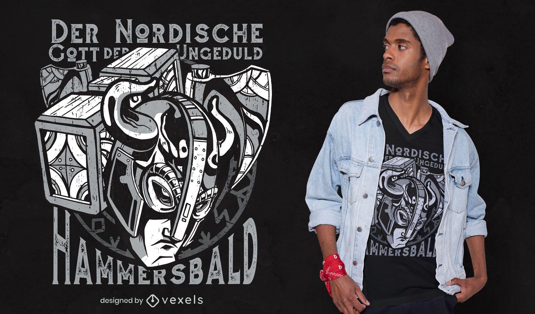 Nordic impatience t-shirt design