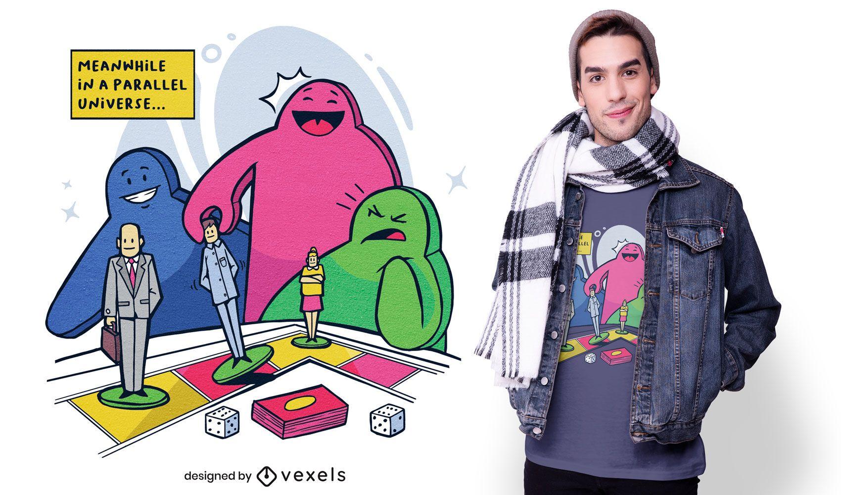 Meeple universe t-shirt design