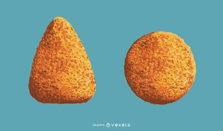Plato italiano arancini realista