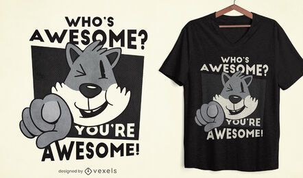 Whos Awesome diseño de camiseta