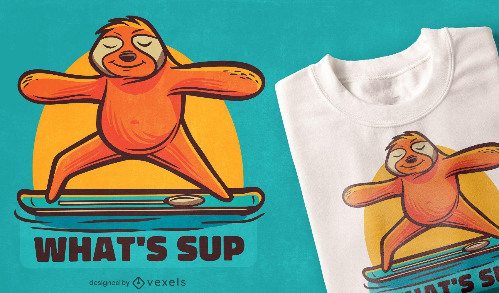 Diseño de camiseta de yoga perezoso.