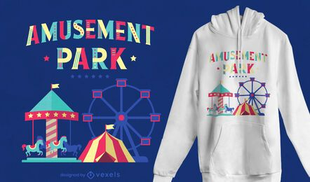 Amusement park t-shirt design