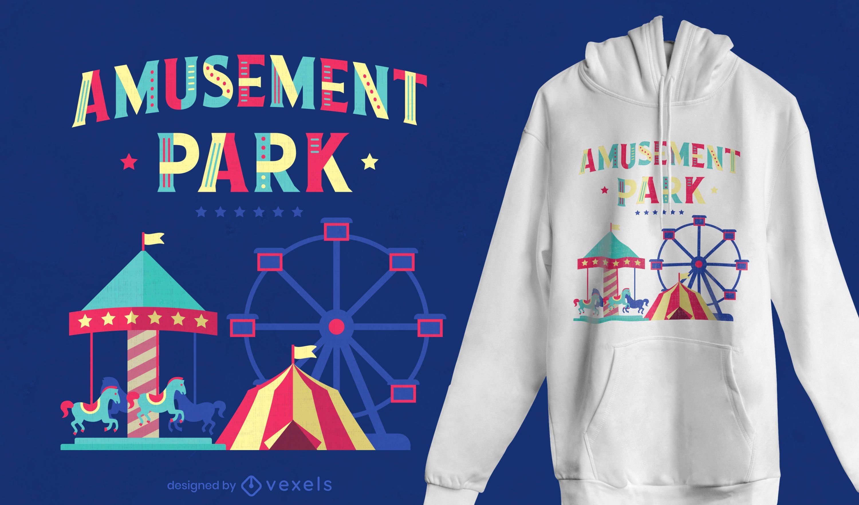 Dise?o de camiseta de parque de atracciones.
