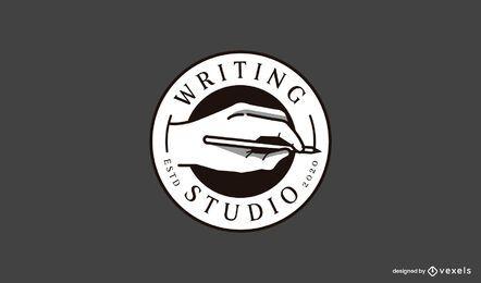 Plantilla de logotipo de estudio de escritura