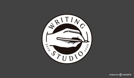 Writing studio logo template
