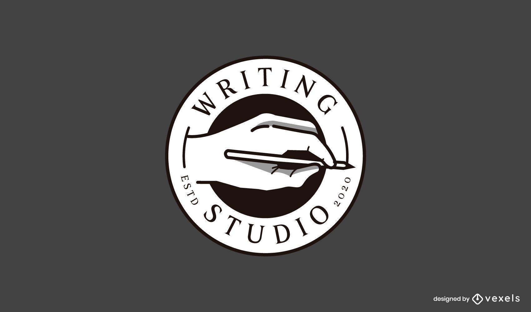 Writing studio logo template