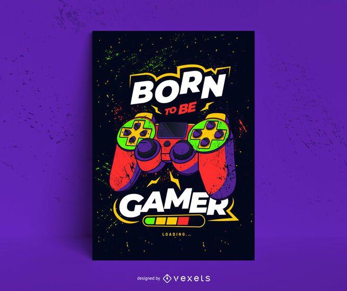 Diseño de cartel nacido jugador